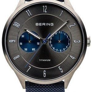 Bering Titanium 11539-873 Kello Harmaa / Tekstiili