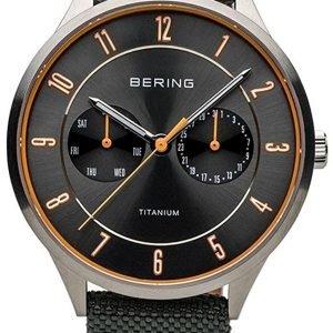 Bering Titanium 11539-879 Kello Harmaa / Tekstiili