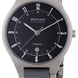 Bering Titanium 11739-702 Kello Musta / Titaani