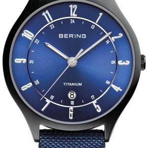 Bering Titanium 11739-827 Kello Sininen / Tekstiili