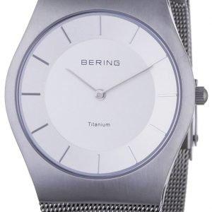 Bering Titanium 11935-000 Kello Valkoinen / Titaani