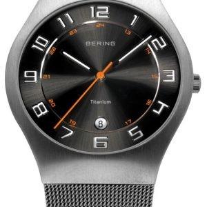 Bering Titanium 11937-007 Kello Musta / Titaani
