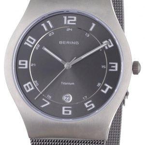 Bering Titanium 11937-077 Kello Harmaa / Titaani