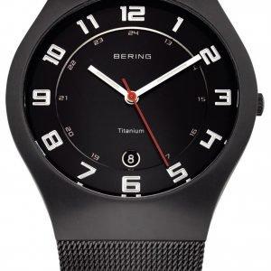 Bering Titanium 11937-222 Kello Musta / Titaani