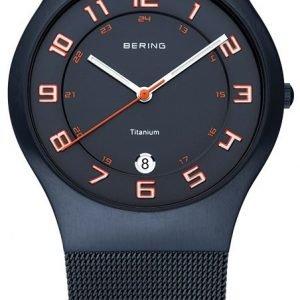Bering Titanium 11937-393 Kello Sininen / Titaani