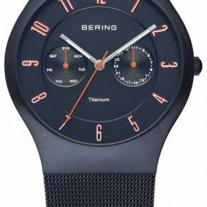 Bering Titanium 11939-393 Kello Sininen / Titaani