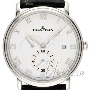 Blancpain Villeret 6606a-1127-55b Kello Valkoinen / Nahka
