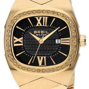 Breil Milano Bw0290 Kello Musta / Kullansävytetty Teräs