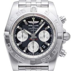 Breitling Chronomat 44 Ab011012-B967-375a Kello Musta / Teräs