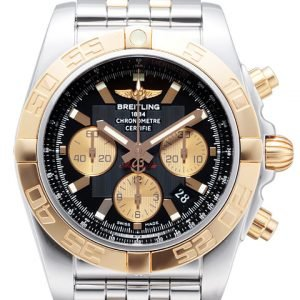 Breitling Chronomat 44 Cb011012-B968-375c Kello Musta / Teräs