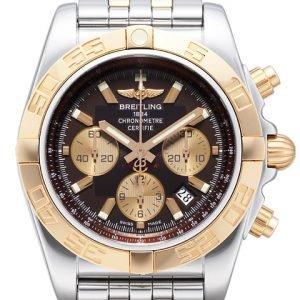 Breitling Chronomat 44 Cb011012-Q576-375c Kello Ruskea / Teräs