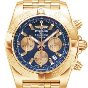 Breitling Chronomat 44 Hb011012-C790-375h Kello Sininen / 18k