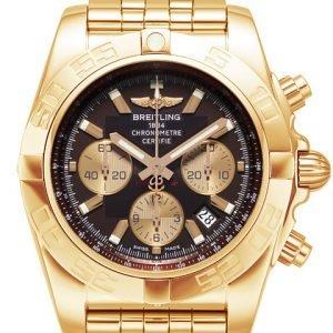 Breitling Chronomat 44 Hb011012-Q576-375h Kello Ruskea / 18k