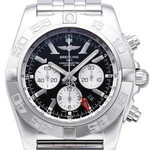 Breitling Chronomat Gmt Ab041012-Ba69-383a Kello Musta / Teräs
