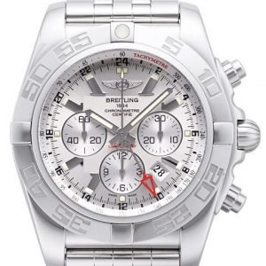 Breitling Chronomat Gmt Ab041012-G719-383a Kello Hopea / Teräs
