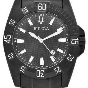 Bulova 65b114 Kello Musta / Teräs