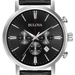 Bulova 96b262 Kello Musta / Nahka