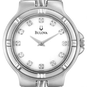 Bulova 96d04 Kello Valkoinen / Teräs