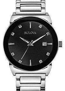 Bulova 96d121 Kello Musta / Teräs