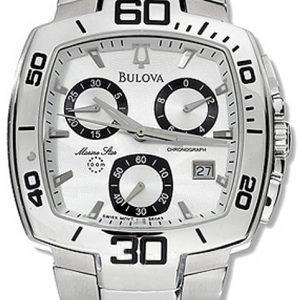 Bulova 96g63 Kello Valkoinen / Teräs