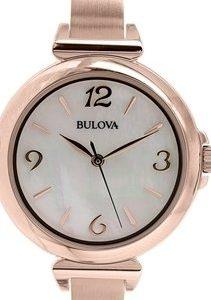 Bulova 97l137 Kello Valkoinen / Punakultasävyinen