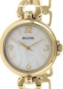 Bulova 97l138 Kello Valkoinen / Kullanvärinen Teräs