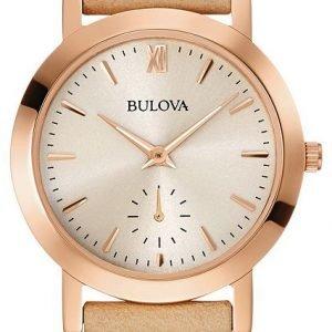 Bulova 97l146 Kello Beige / Nahka