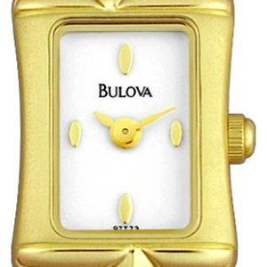 Bulova 97t73 Kello Valkoinen / Kullanvärinen Teräs