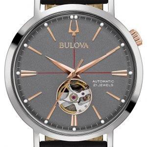 Bulova 98a187 Kello Harmaa / Nahka