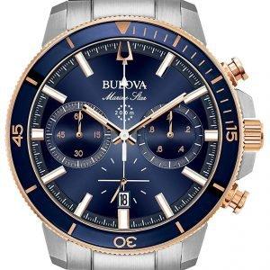 Bulova 98b301 Kello Sininen / Punakultasävyinen