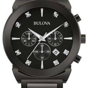 Bulova 98d123 Kello Musta / Teräs