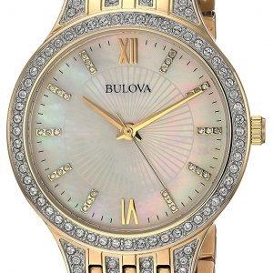 Bulova 98l234 Kello Valkoinen / Kullansävytetty Teräs