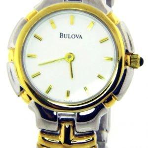 Bulova 98l53 Kello Valkoinen / Kullansävytetty Teräs