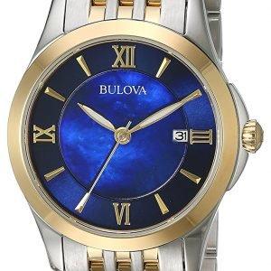 Bulova 98m124 Kello Sininen / Kullansävytetty Teräs