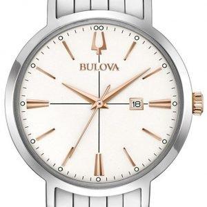 Bulova 98m130 Kello Valkoinen / Teräs