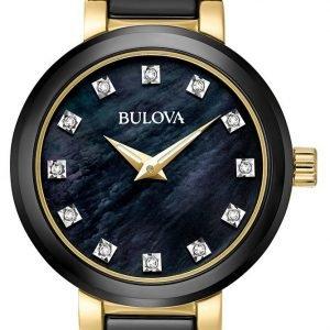 Bulova 98p159 Kello Musta / Kullansävytetty Teräs