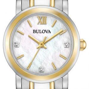 Bulova 98p165 Kello Valkoinen / Kullansävytetty Teräs