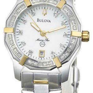 Bulova 98r118 Kello Valkoinen / Kullansävytetty Teräs