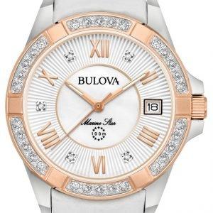 Bulova 98r233 Kello Valkoinen / Nahka