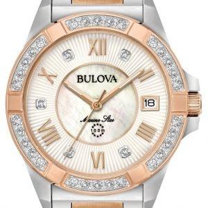 Bulova 98r234 Kello Valkoinen / Punakultasävyinen