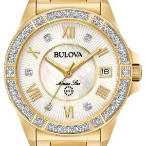 Bulova 98r235 Kello Valkoinen / Kullansävytetty Teräs