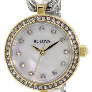 Bulova 98x109 Kello Valkoinen / Kullansävytetty Teräs