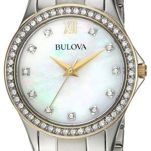 Bulova 98x112 Kello Valkoinen / Kullansävytetty Teräs