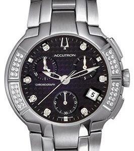 Bulova Accutron 26e06 Kello Musta / Teräs