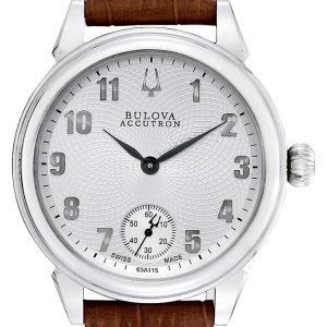 Bulova Accutron 63a115 Kello Hopea / Nahka