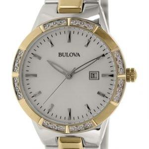Bulova Diamond 98r169 Kello Hopea / Punakultasävyinen