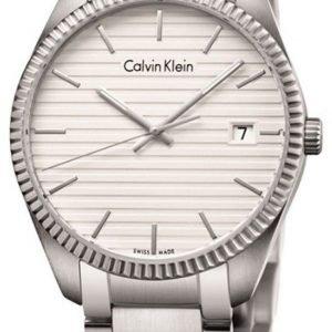 Calvin Klein Alliance K5r31146 Kello Valkoinen / Teräs