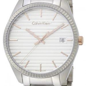 Calvin Klein Alliance K5r31b46 Kello Valkoinen / Teräs