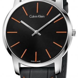 Calvin Klein City K2g211c1 Kello Musta / Nahka