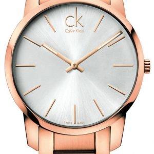 Calvin Klein City K2g21646 Kello Hopea / Punakultasävyinen